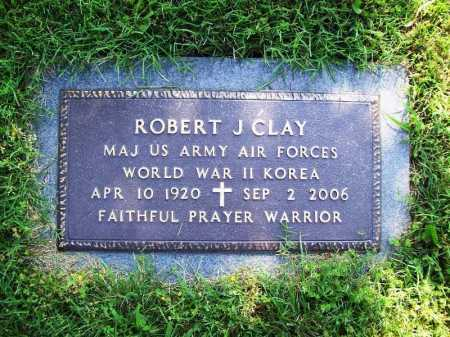 CLAY (VETERAN 2 WARS), ROBERT J. - Benton County, Arkansas | ROBERT J. CLAY (VETERAN 2 WARS) - Arkansas Gravestone Photos