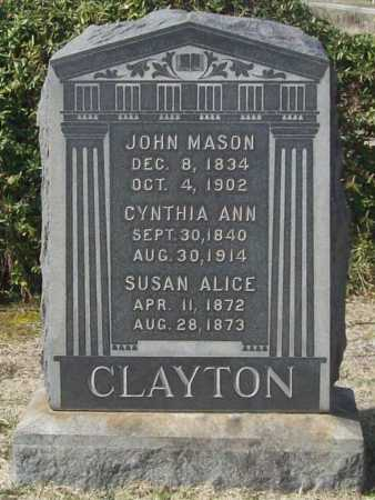 CLAYTON, SUSAN ALICE - Benton County, Arkansas | SUSAN ALICE CLAYTON - Arkansas Gravestone Photos