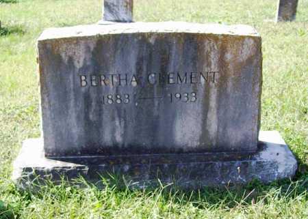 CLEMENT, BERTHA - Benton County, Arkansas | BERTHA CLEMENT - Arkansas Gravestone Photos