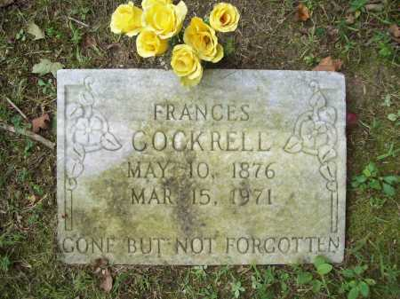 COCKRELL, FRANCES - Benton County, Arkansas | FRANCES COCKRELL - Arkansas Gravestone Photos
