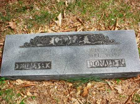 COLE, DONALD KOONS - Benton County, Arkansas | DONALD KOONS COLE - Arkansas Gravestone Photos