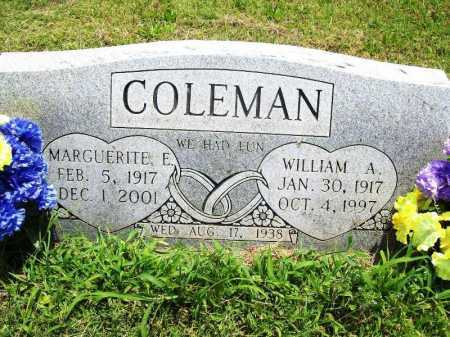 COLEMAN, MARGUERITE E. - Benton County, Arkansas | MARGUERITE E. COLEMAN - Arkansas Gravestone Photos