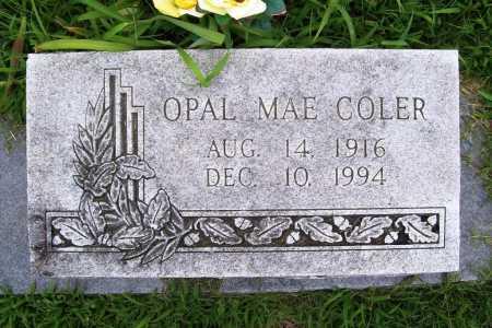 COLER, OPAL MAE - Benton County, Arkansas | OPAL MAE COLER - Arkansas Gravestone Photos