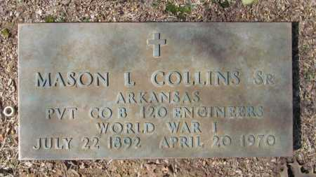 COLLINS SR. (VETERAN WWI), MASON L - Benton County, Arkansas | MASON L COLLINS SR. (VETERAN WWI) - Arkansas Gravestone Photos