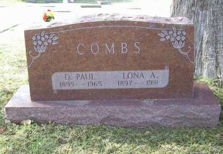 TAYLOR COMBS, LONA A. - Benton County, Arkansas | LONA A. TAYLOR COMBS - Arkansas Gravestone Photos