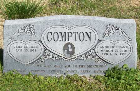 COMPTON, ANDREW FRANK - Benton County, Arkansas | ANDREW FRANK COMPTON - Arkansas Gravestone Photos
