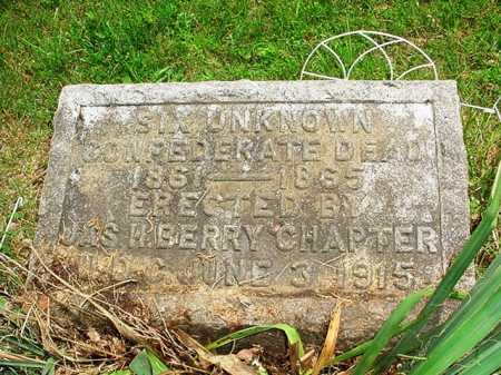 CONFEDERATE DEAD, SIX UNKNOWN - Benton County, Arkansas | SIX UNKNOWN CONFEDERATE DEAD - Arkansas Gravestone Photos