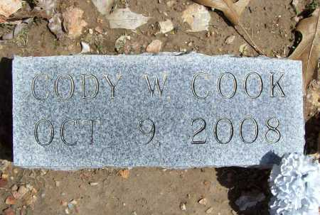 COOK, CODY W - Benton County, Arkansas | CODY W COOK - Arkansas Gravestone Photos