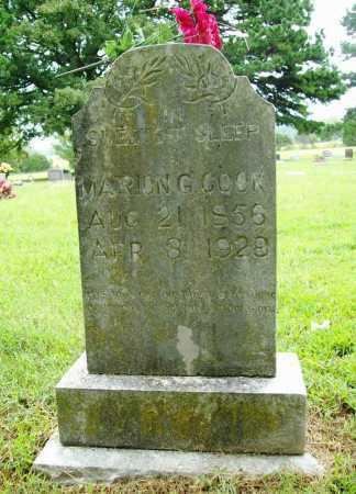 COOK, MARION G. - Benton County, Arkansas   MARION G. COOK - Arkansas Gravestone Photos