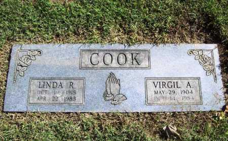 COOK, VIRGIL A. - Benton County, Arkansas | VIRGIL A. COOK - Arkansas Gravestone Photos