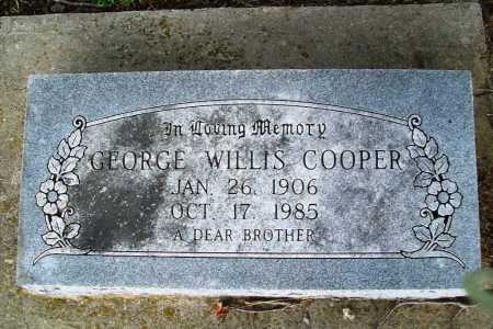 COOPER, GEORGE WILLIS - Benton County, Arkansas | GEORGE WILLIS COOPER - Arkansas Gravestone Photos