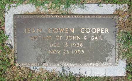 COWEN COOPER, JEAN - Benton County, Arkansas | JEAN COWEN COOPER - Arkansas Gravestone Photos