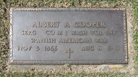 COOPER (VETERAN SAW), ALBERT A - Benton County, Arkansas | ALBERT A COOPER (VETERAN SAW) - Arkansas Gravestone Photos