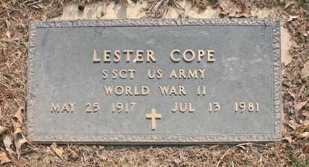 COPE (VETERAN WWII), LESTER - Benton County, Arkansas | LESTER COPE (VETERAN WWII) - Arkansas Gravestone Photos