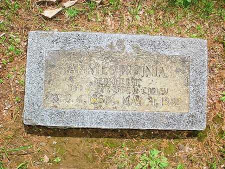 CORLEY, ANNIE VIRGINIA - Benton County, Arkansas | ANNIE VIRGINIA CORLEY - Arkansas Gravestone Photos