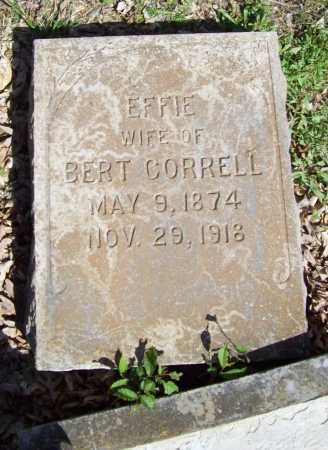 CORRELL, EFFIE - Benton County, Arkansas | EFFIE CORRELL - Arkansas Gravestone Photos