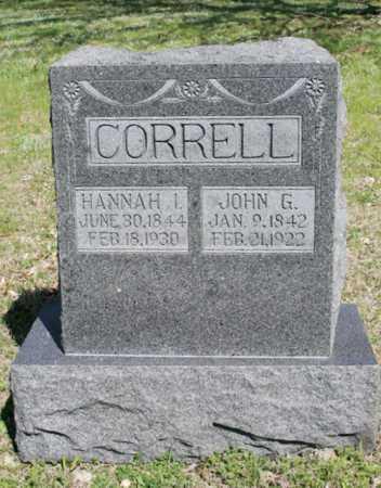 CORRELL, HANNAH I - Benton County, Arkansas | HANNAH I CORRELL - Arkansas Gravestone Photos