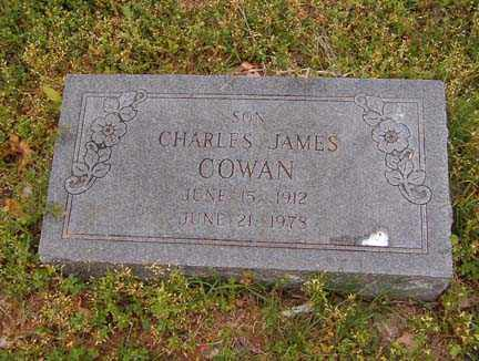 COWAN, CHARLES JAMES - Benton County, Arkansas | CHARLES JAMES COWAN - Arkansas Gravestone Photos
