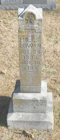 COWAN, MILES - Benton County, Arkansas   MILES COWAN - Arkansas Gravestone Photos