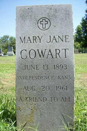 COWART, MARY JANE - Benton County, Arkansas | MARY JANE COWART - Arkansas Gravestone Photos