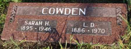 COWDEN, L. D. - Benton County, Arkansas | L. D. COWDEN - Arkansas Gravestone Photos
