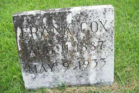 COX, FRANK - Benton County, Arkansas | FRANK COX - Arkansas Gravestone Photos