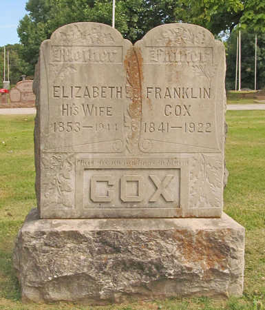 COX, ELIZABETH - Benton County, Arkansas | ELIZABETH COX - Arkansas Gravestone Photos