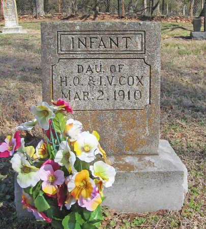 COX, INFANT DAUGHTER - Benton County, Arkansas | INFANT DAUGHTER COX - Arkansas Gravestone Photos
