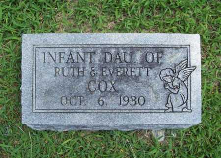 COX, INFANT DAUGHTER - Benton County, Arkansas | INFANT DAUGHTER COX - Arkansas Gravestone Photos