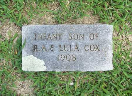 COX, INFANT SON - Benton County, Arkansas | INFANT SON COX - Arkansas Gravestone Photos