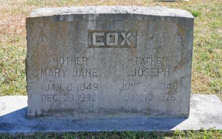 COX, MARY JANE - Benton County, Arkansas | MARY JANE COX - Arkansas Gravestone Photos