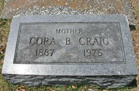CRAIG, CORA B. (FOOTSTONE) - Benton County, Arkansas | CORA B. (FOOTSTONE) CRAIG - Arkansas Gravestone Photos