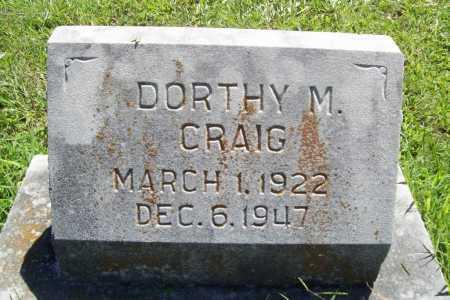 CRAIG, DORTHY M. - Benton County, Arkansas | DORTHY M. CRAIG - Arkansas Gravestone Photos