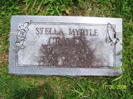CRAVEN, STELLA MYRTLE - Benton County, Arkansas | STELLA MYRTLE CRAVEN - Arkansas Gravestone Photos