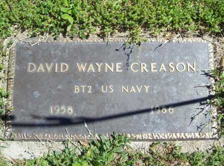 CREASON (VETERAN), DAVID WAYNE - Benton County, Arkansas | DAVID WAYNE CREASON (VETERAN) - Arkansas Gravestone Photos