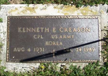 CREASON (VETERAN KOR), KENNETH E - Benton County, Arkansas | KENNETH E CREASON (VETERAN KOR) - Arkansas Gravestone Photos