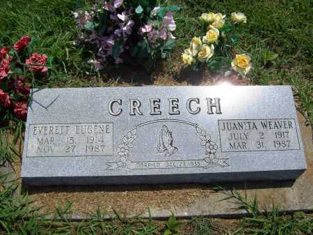 CREECH, JUANITA - Benton County, Arkansas | JUANITA CREECH - Arkansas Gravestone Photos