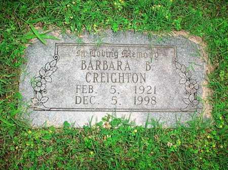 CREIGHTON, BARBARA B. - Benton County, Arkansas | BARBARA B. CREIGHTON - Arkansas Gravestone Photos