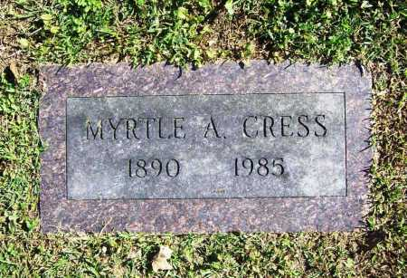 CRESS, MYRTLE A. - Benton County, Arkansas | MYRTLE A. CRESS - Arkansas Gravestone Photos