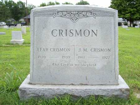 CRISMON, J. M. - Benton County, Arkansas | J. M. CRISMON - Arkansas Gravestone Photos