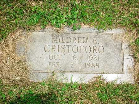 CRISTOFORO, MILDRED E. - Benton County, Arkansas | MILDRED E. CRISTOFORO - Arkansas Gravestone Photos
