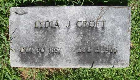 CROFT, LYDIA J. - Benton County, Arkansas | LYDIA J. CROFT - Arkansas Gravestone Photos