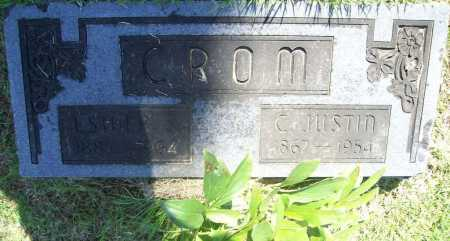 CROM, C. JUSTIN - Benton County, Arkansas | C. JUSTIN CROM - Arkansas Gravestone Photos
