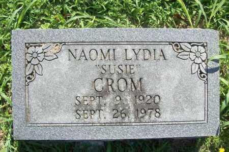 "CROM, NAOMI LYDIA ""SUSIE"" - Benton County, Arkansas | NAOMI LYDIA ""SUSIE"" CROM - Arkansas Gravestone Photos"