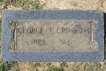 CROWDER, GEORGE T. - Benton County, Arkansas | GEORGE T. CROWDER - Arkansas Gravestone Photos