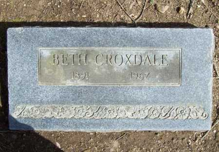 CROSSMAN CROXDALE, BETH - Benton County, Arkansas | BETH CROSSMAN CROXDALE - Arkansas Gravestone Photos