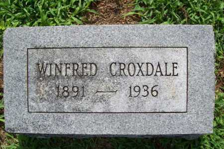 CROXDALE, WINFRED - Benton County, Arkansas | WINFRED CROXDALE - Arkansas Gravestone Photos