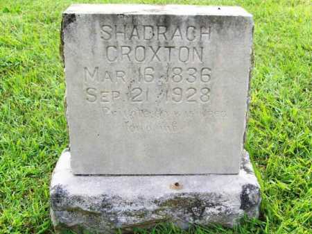 CROXTON (VETERAN UNION), SHADRACH - Benton County, Arkansas | SHADRACH CROXTON (VETERAN UNION) - Arkansas Gravestone Photos