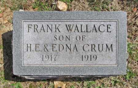 CRUM, FRANK WALLACE - Benton County, Arkansas | FRANK WALLACE CRUM - Arkansas Gravestone Photos