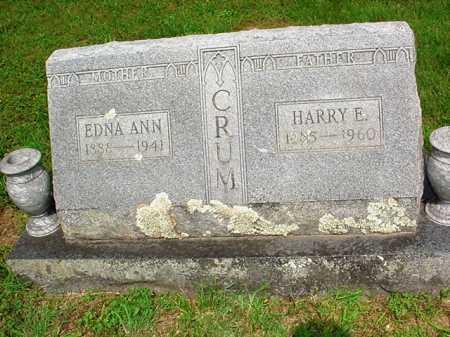 CRUM, HARRY E. - Benton County, Arkansas | HARRY E. CRUM - Arkansas Gravestone Photos